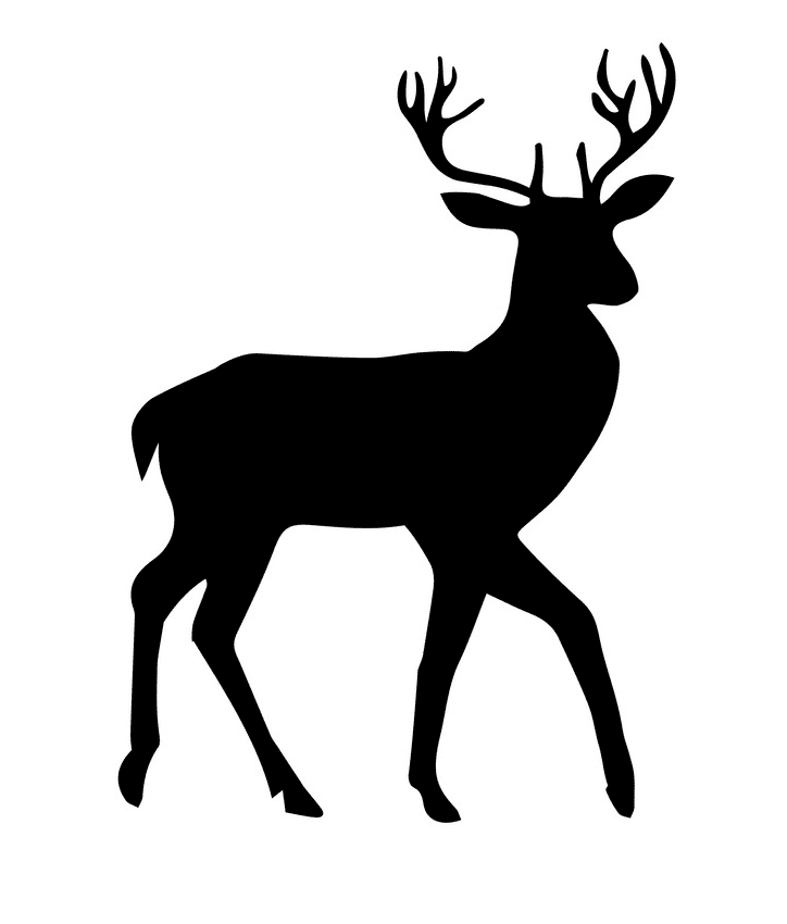 Deer Silhouette clipart images