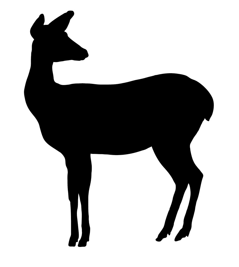 Deer Silhouette clipart png image