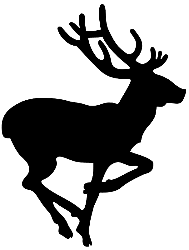Deer Silhouette clipart png