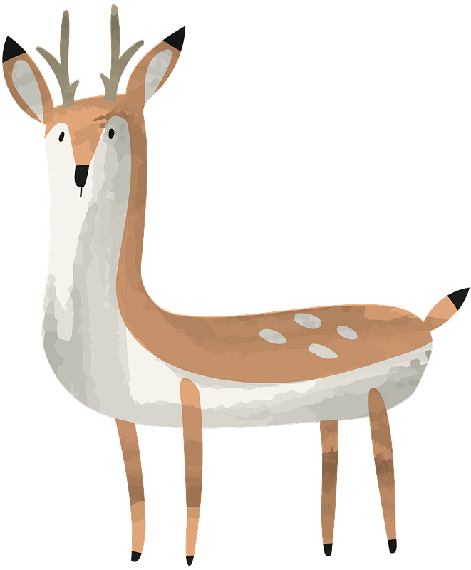 Deer clipart transparent 1