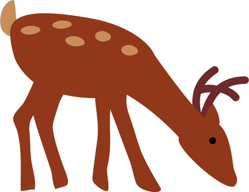 Deer clipart transparent background 1