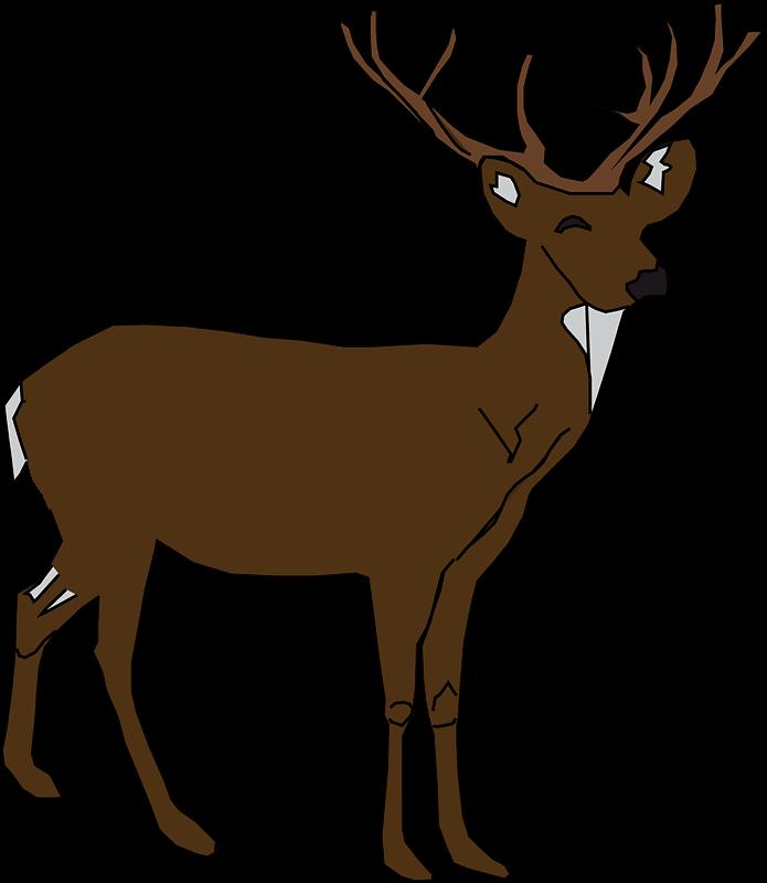Deer clipart transparent free image