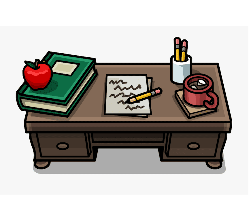 Desk clipart 8