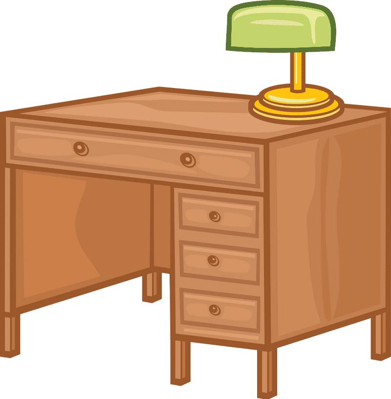 Desk clipart free image