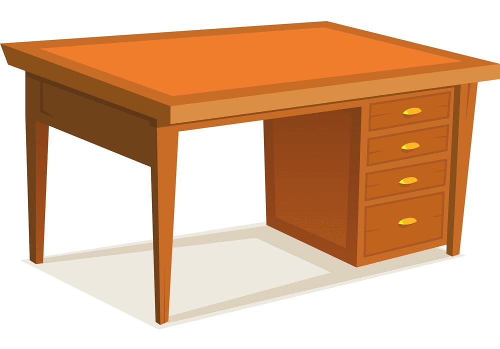 Desk clipart free