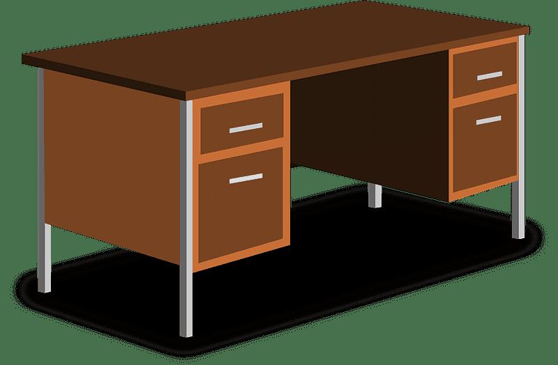 Desk clipart transparent background 3