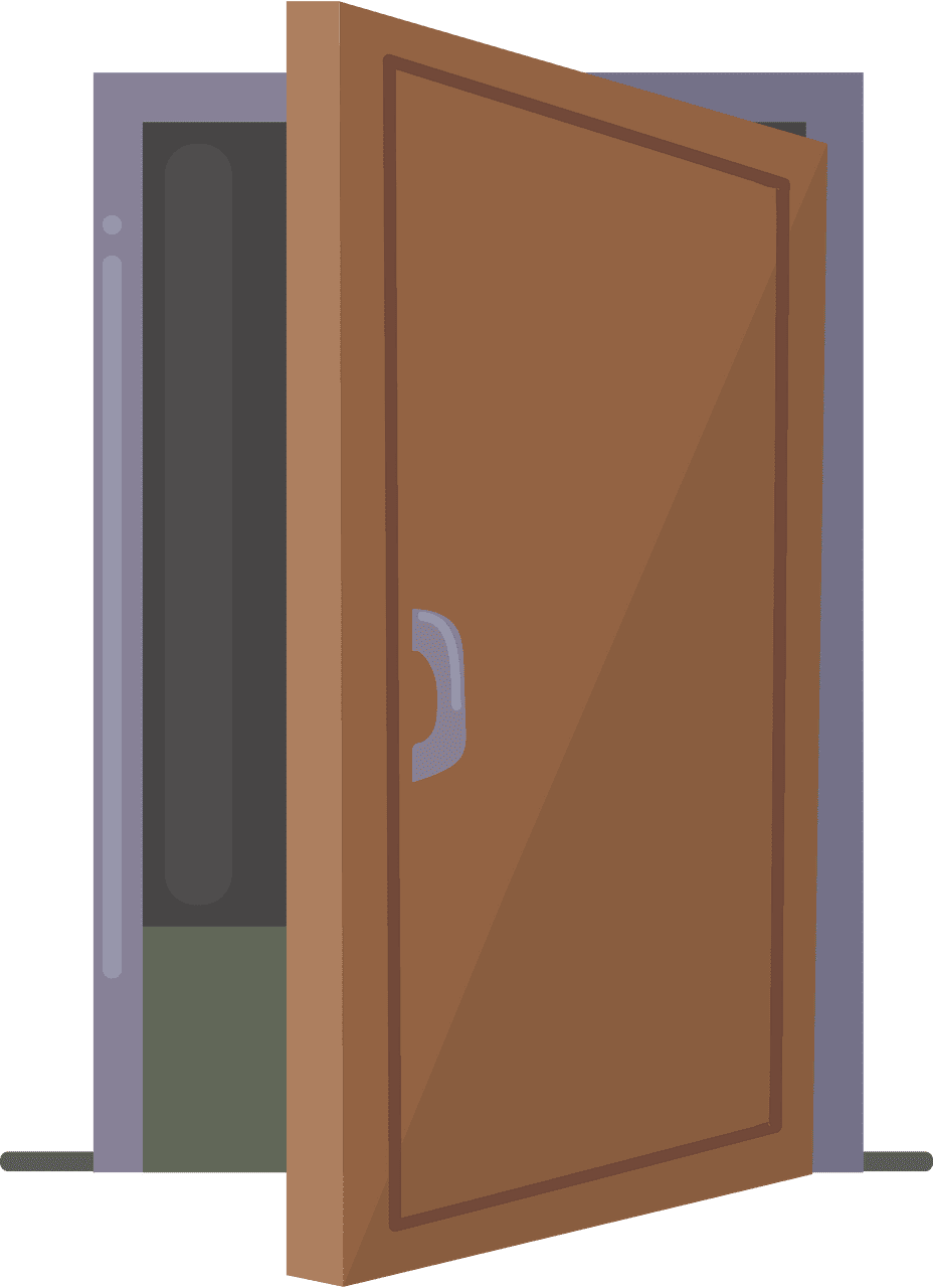 Door clipart transparent 13