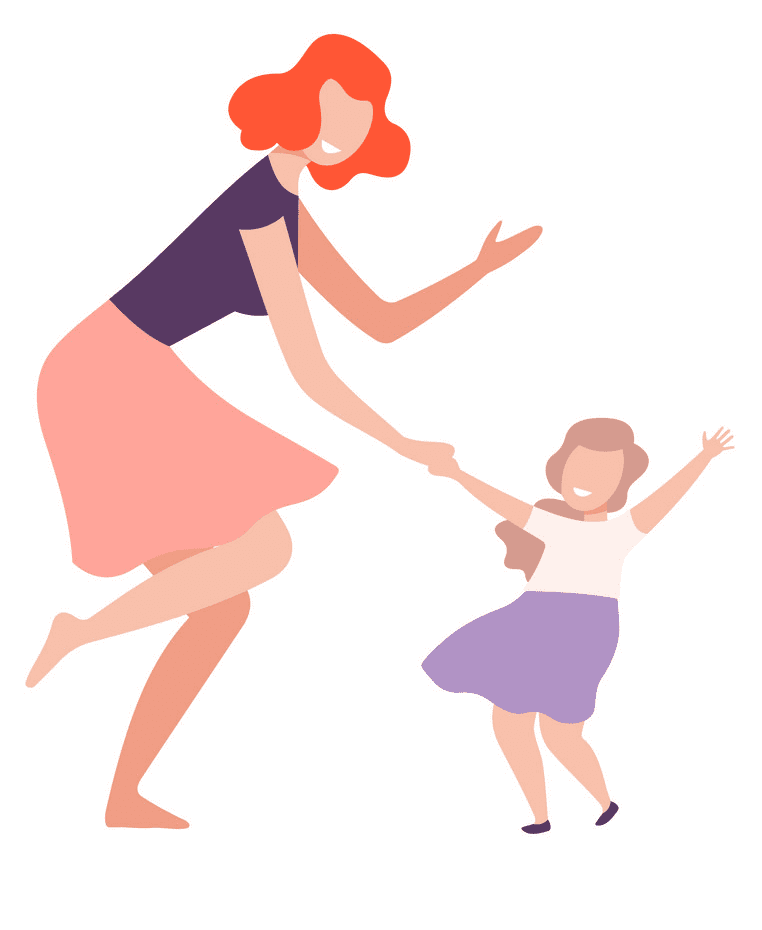 Download Mom and Daughter clipart free