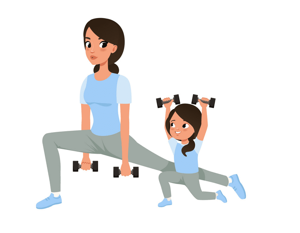 Download Mom and Daughter clipart image