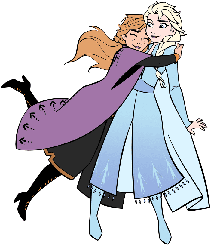 Elsa and Anna clipart free image