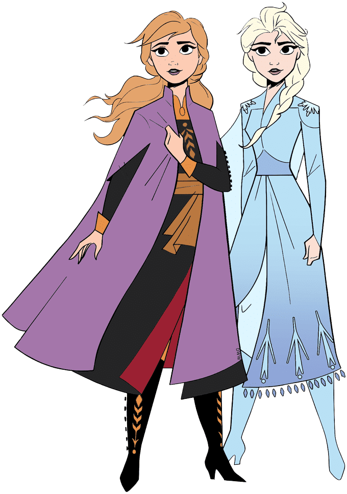 Elsa and Anna clipart free images