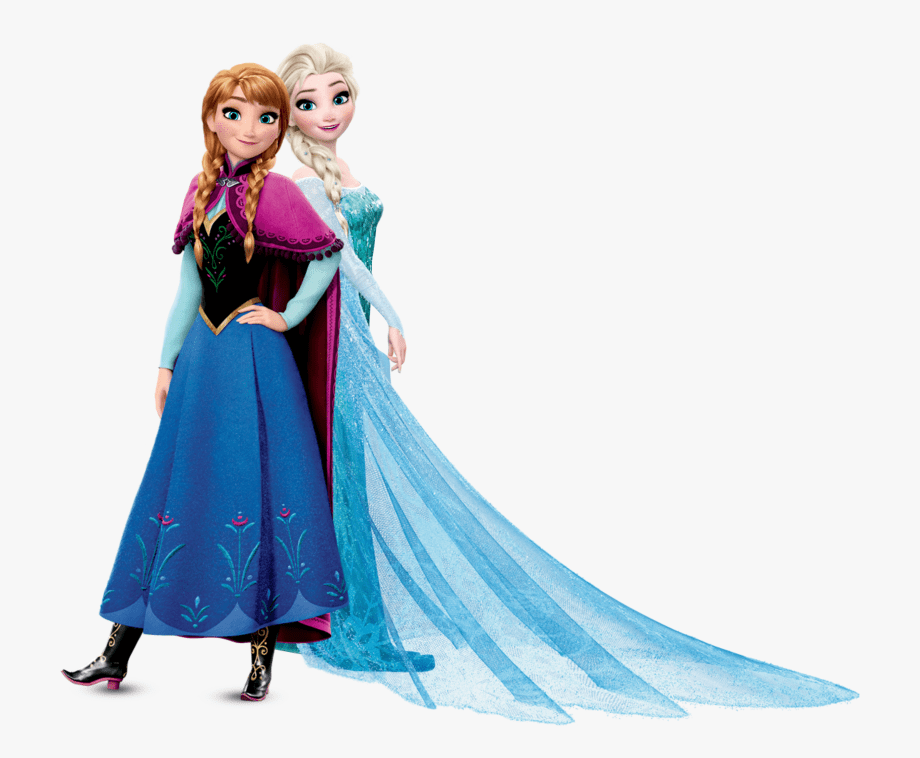 Elsa and Anna clipart free