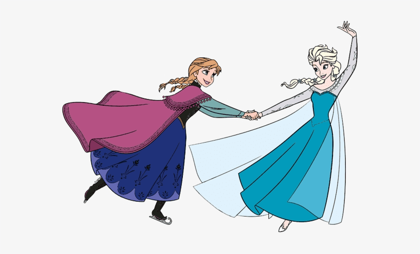 Elsa and Anna clipart image