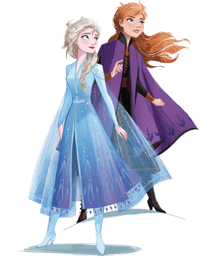 Elsa and Anna clipart images