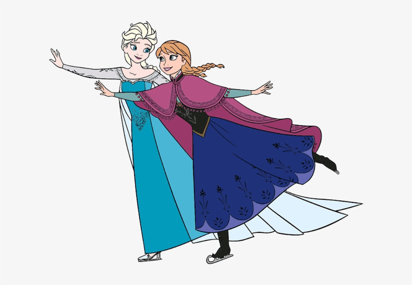 Elsa and Anna clipart png free
