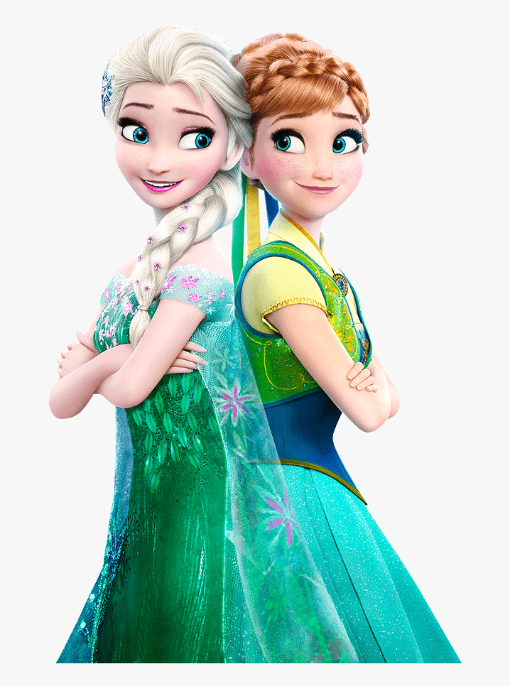 Elsa and Anna clipart png image