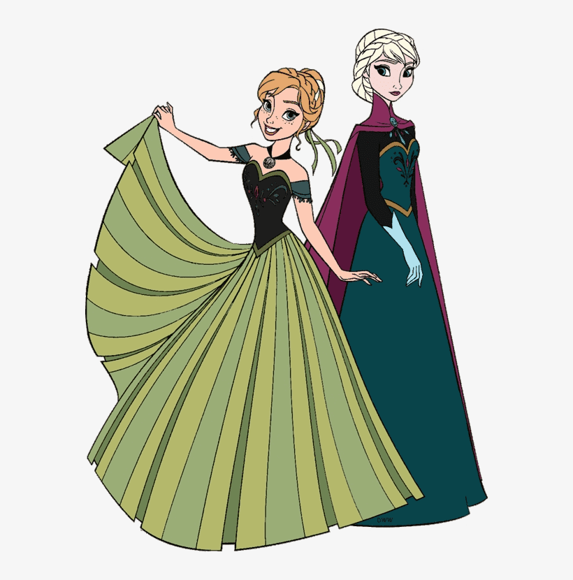 Elsa and Anna clipart png images