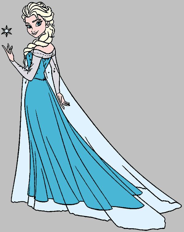 Elsa clipart free