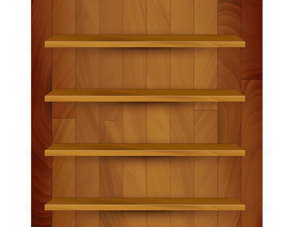 Empty Bookshelf clipart 4