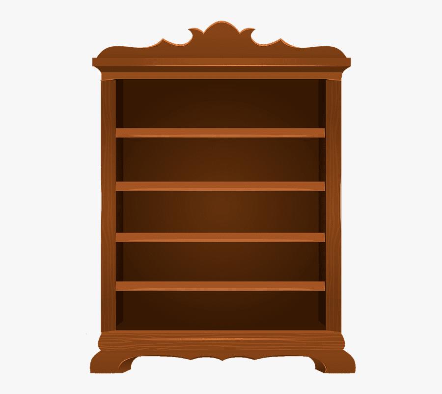 Empty Bookshelf clipart 6