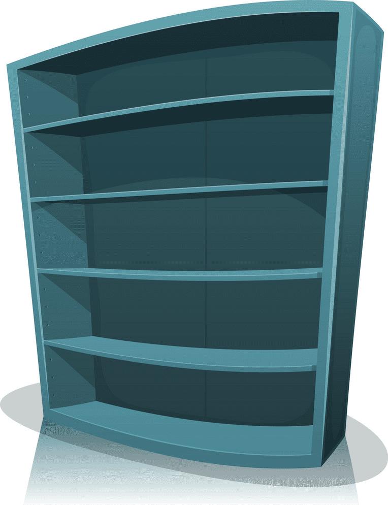 Empty Bookshelf clipart download