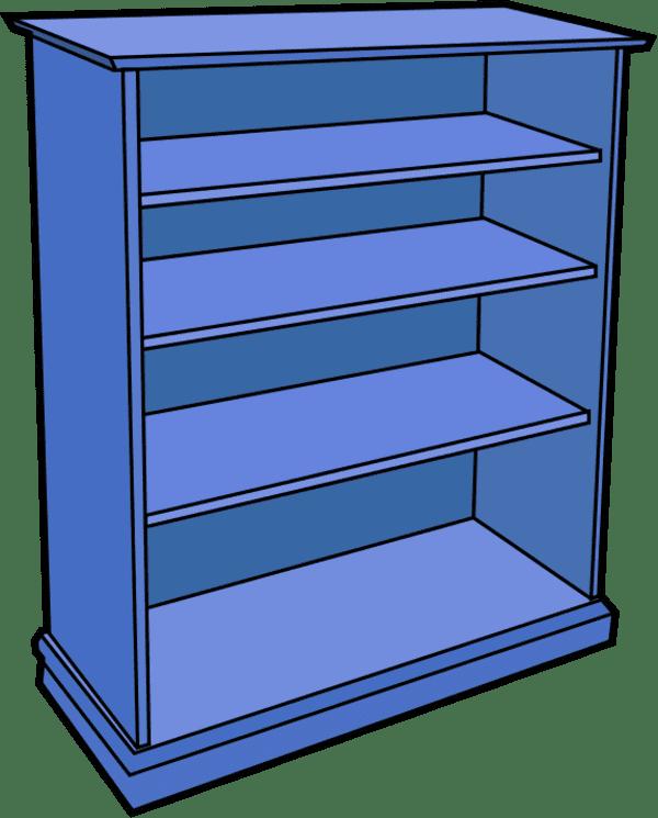 Empty Bookshelf clipart for free