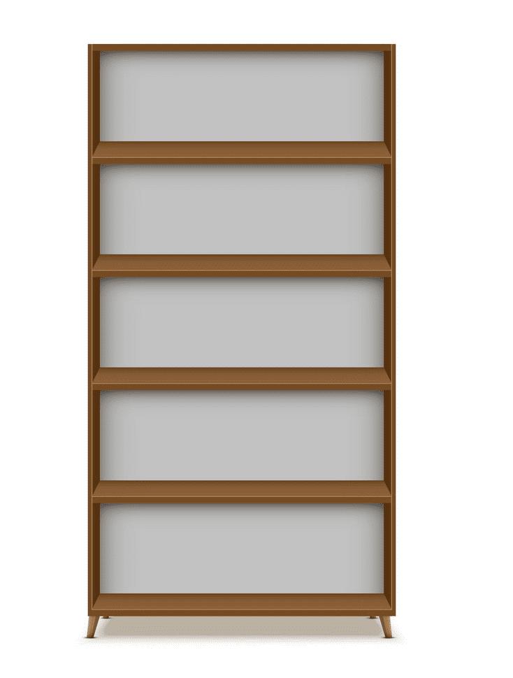 Empty Bookshelf clipart free image