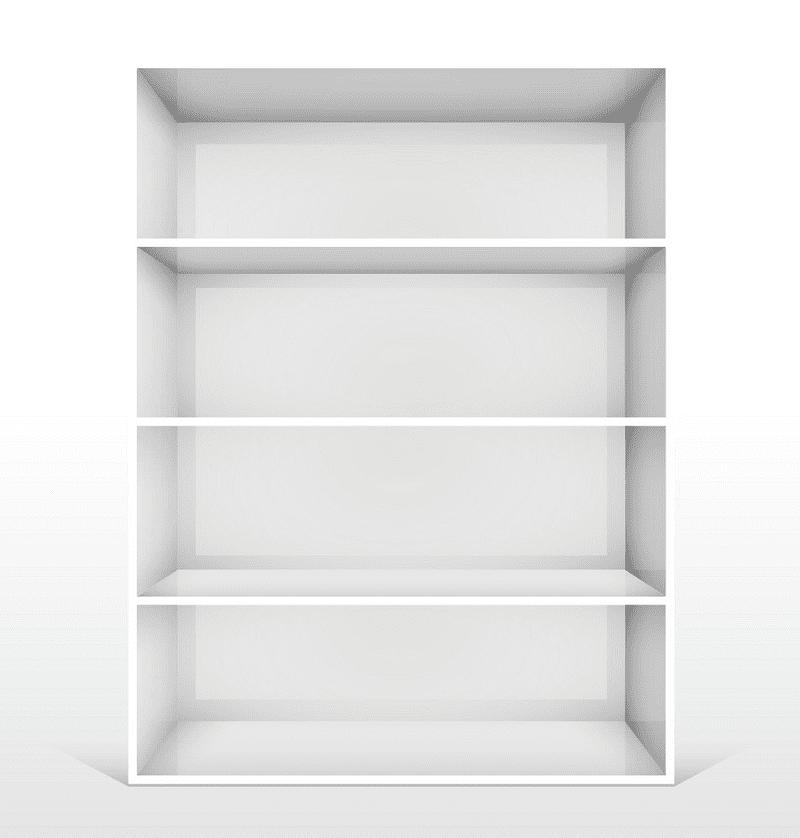 Empty Bookshelf clipart pictutre