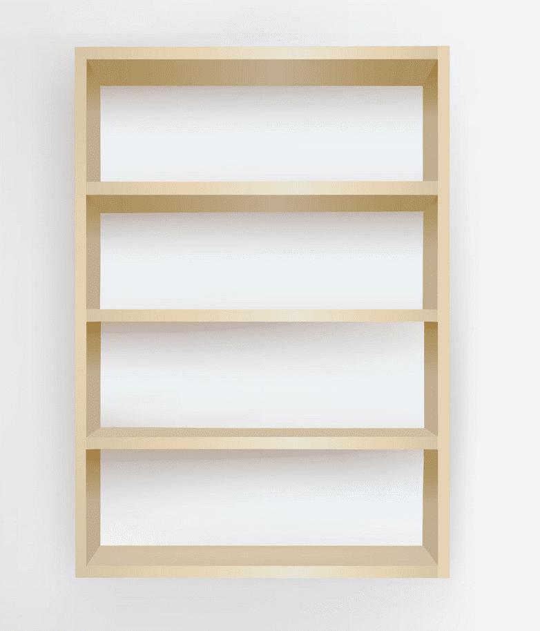 Empty Bookshelf clipart png image