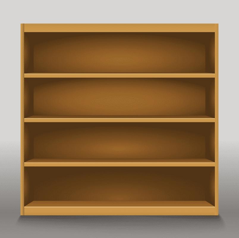 Empty Bookshelf clipart png images