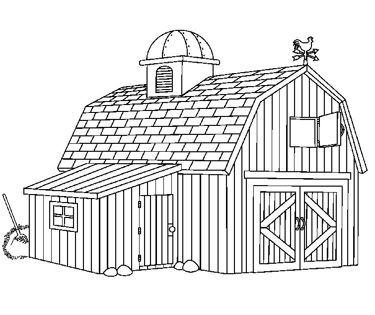 Free Barn Clipart Black and White