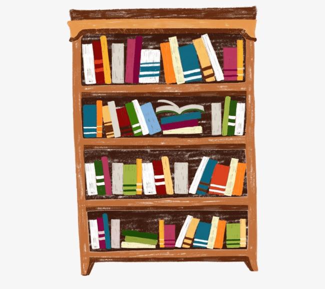 Free Bookshelf clipart image