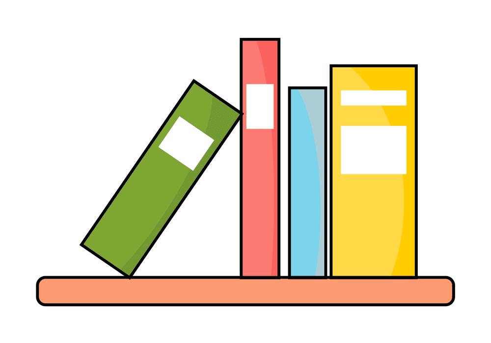 Free Bookshelf clipart images