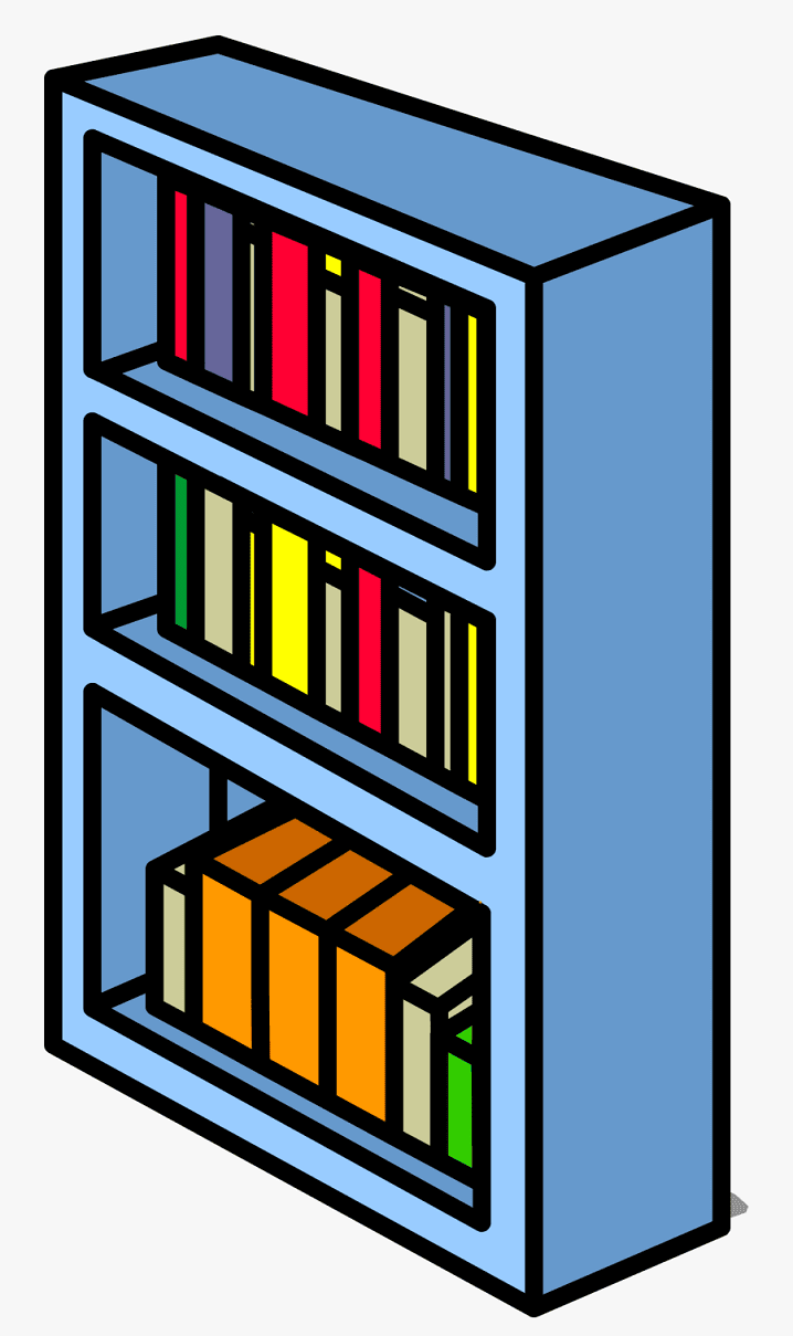 Free Bookshelf clipart png image