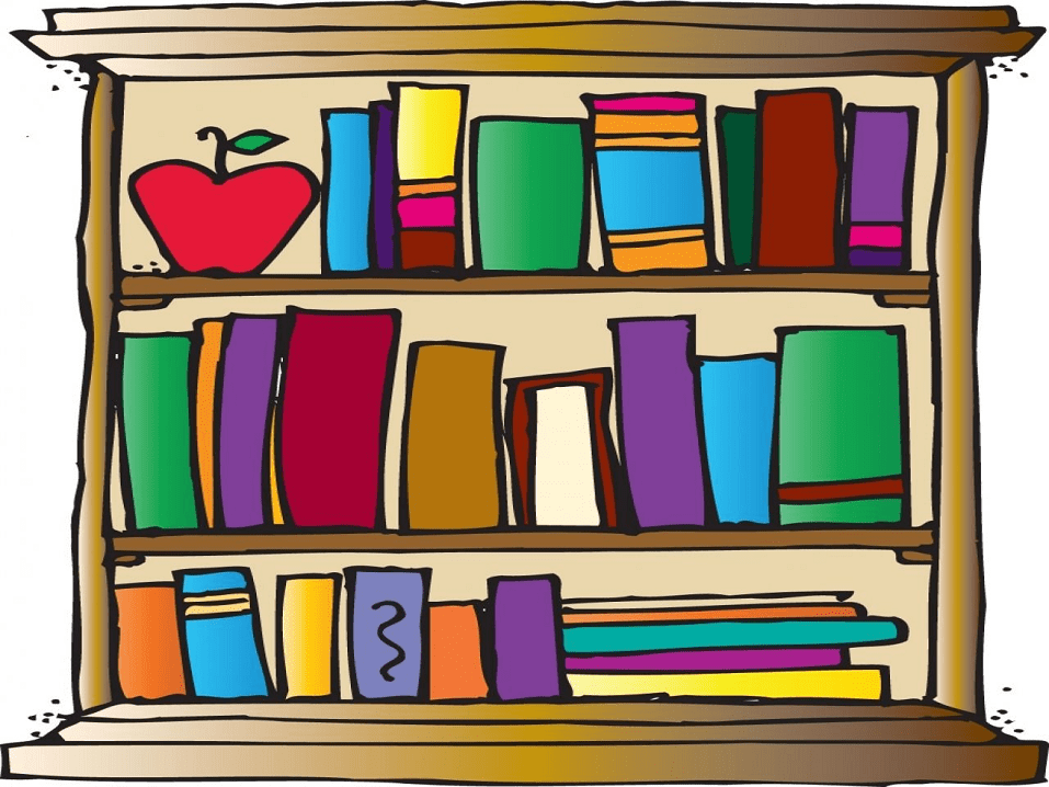 Free Bookshelf clipart png images