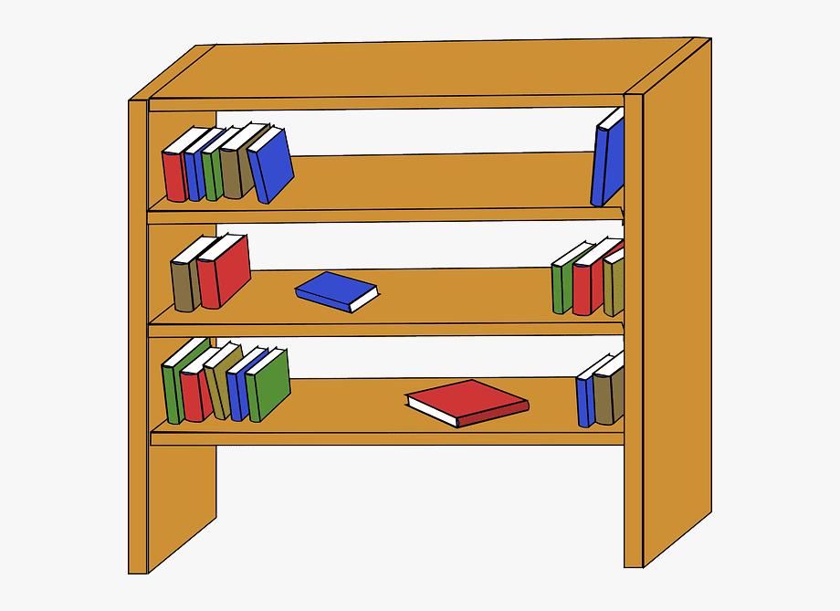 Free Bookshelf clipart