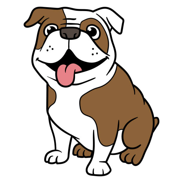 Free Bulldog clipart 1