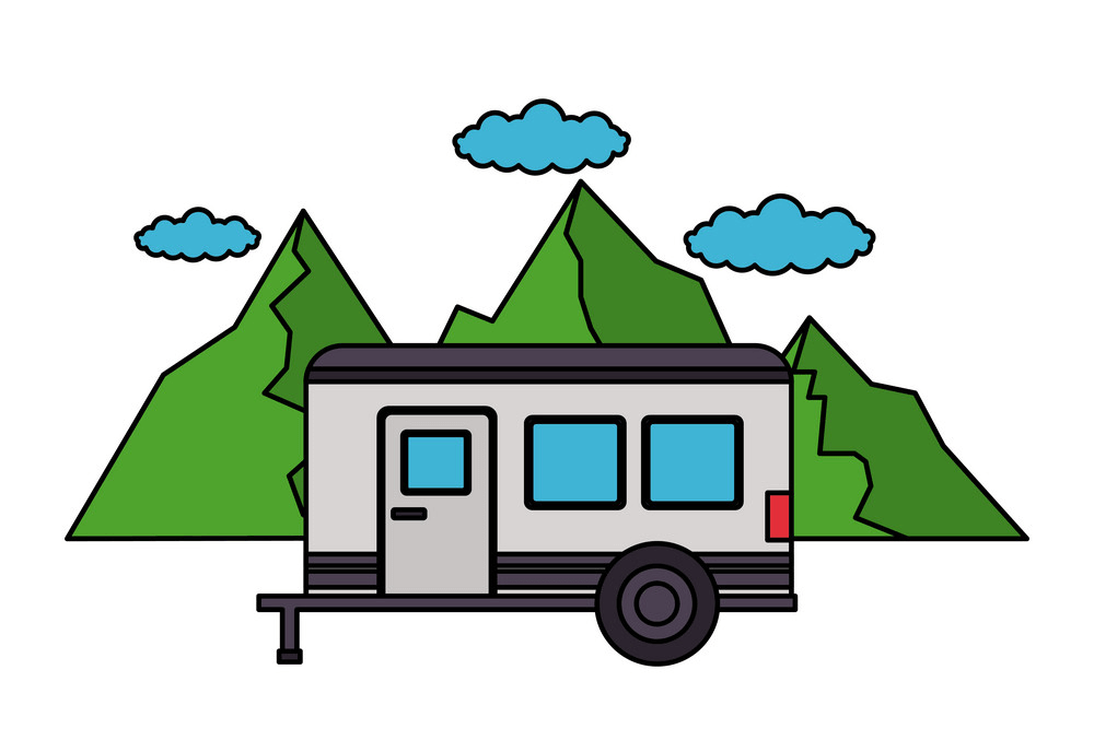 Free Camper Trailer clipart png images