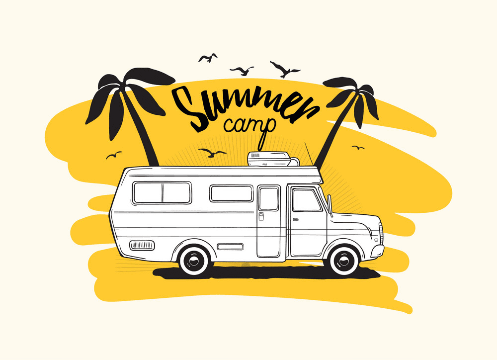Free Camper clipart image