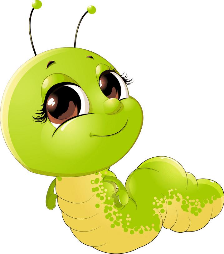 Free Cute Caterpillar clipart image