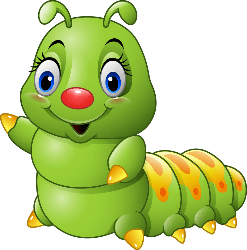 Free Cute Caterpillar clipart png images