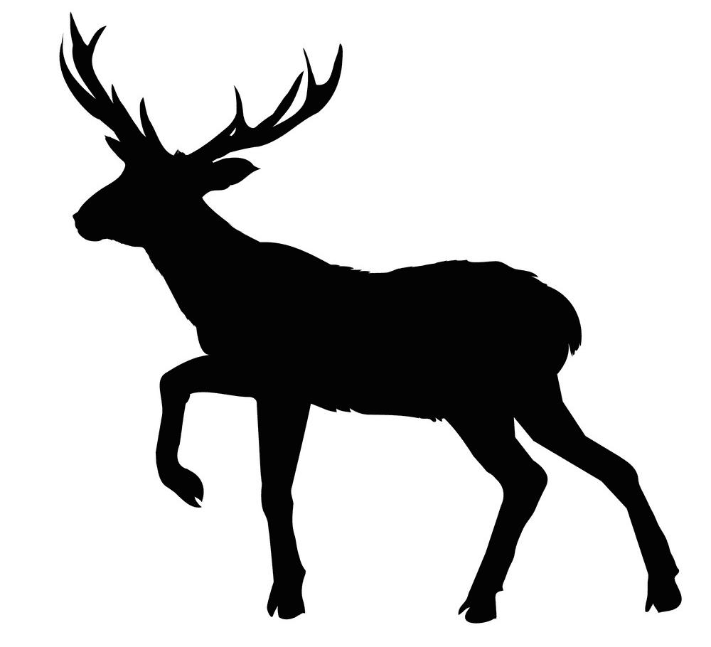 Free Deer Clipart Silhouette