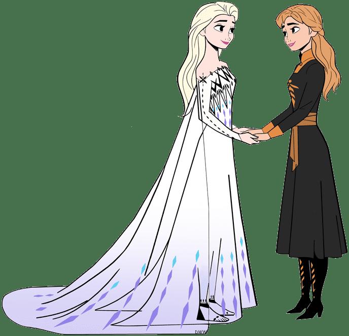 Free Elsa and Anna clipart