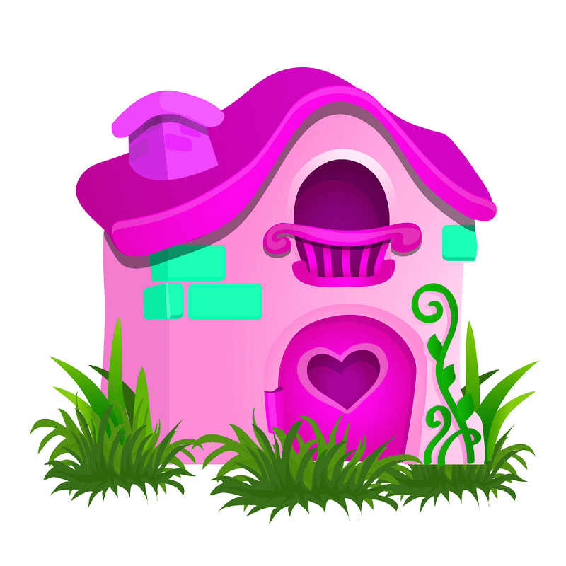 Free Fairy House clipart image