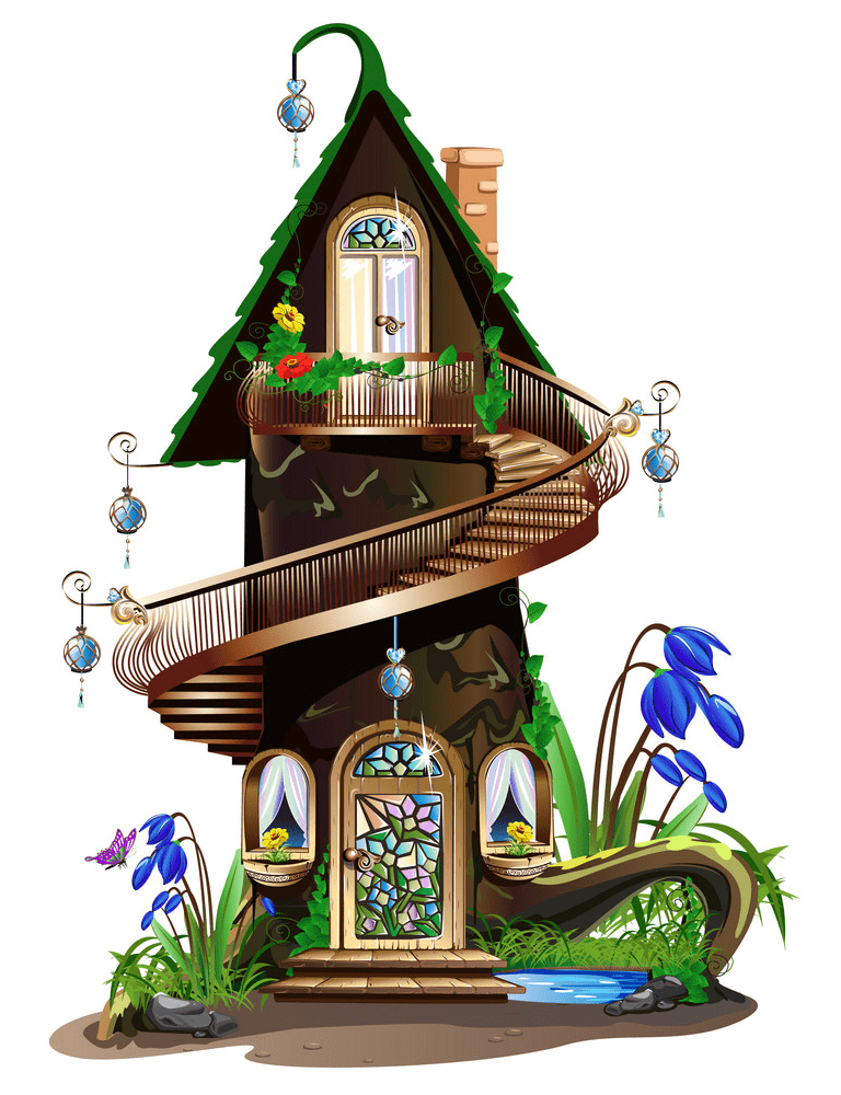 Free Fairy House clipart images