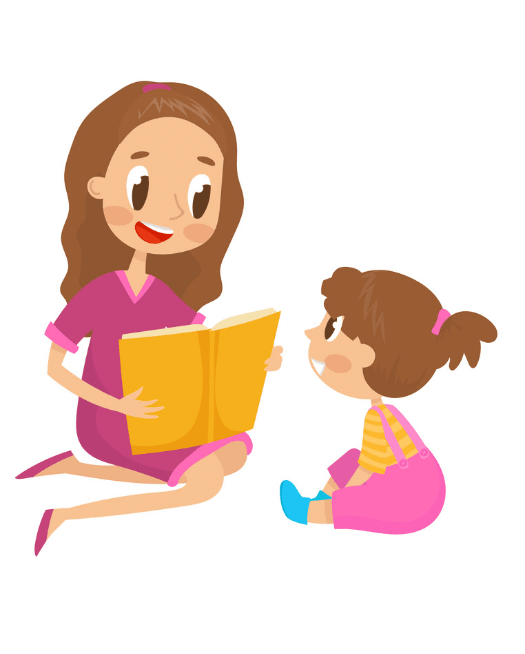 Free Mom and Daughter clipart image