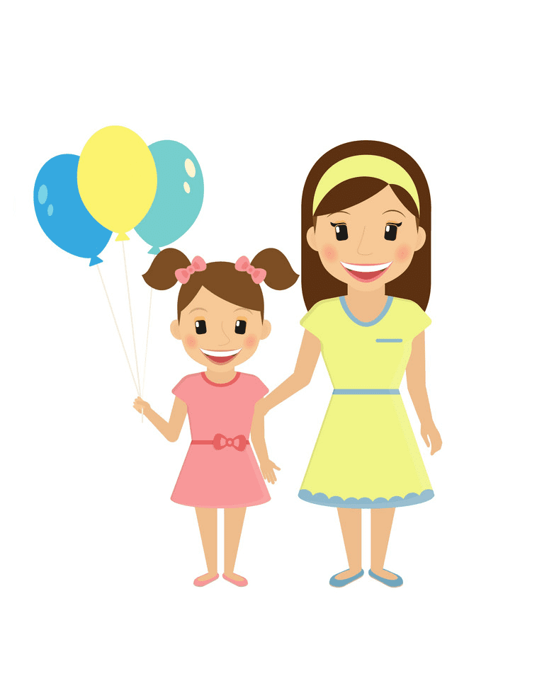 Free Mom and Daughter clipart png