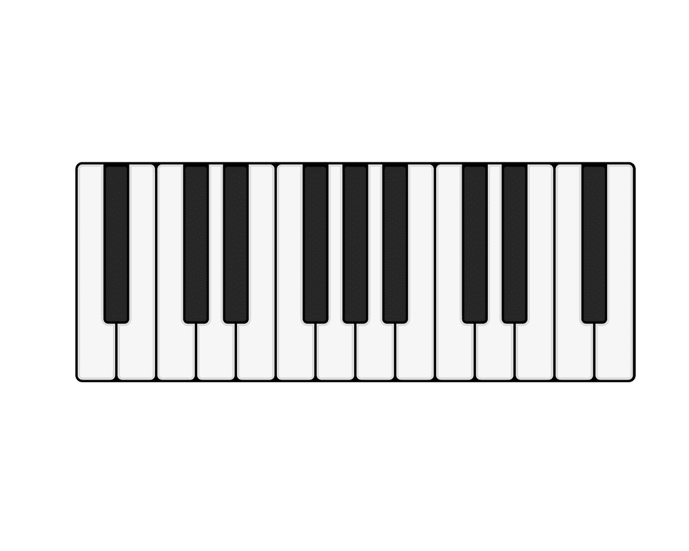 Free Piano Keyboard clipart image