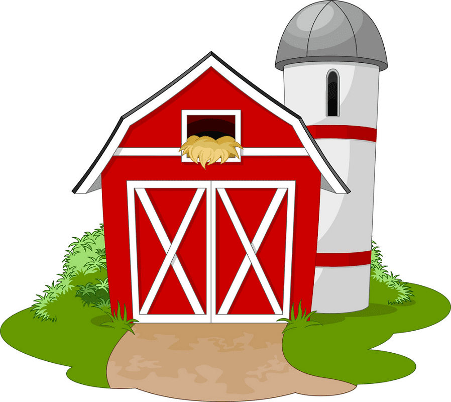 Free Red Barn clipart