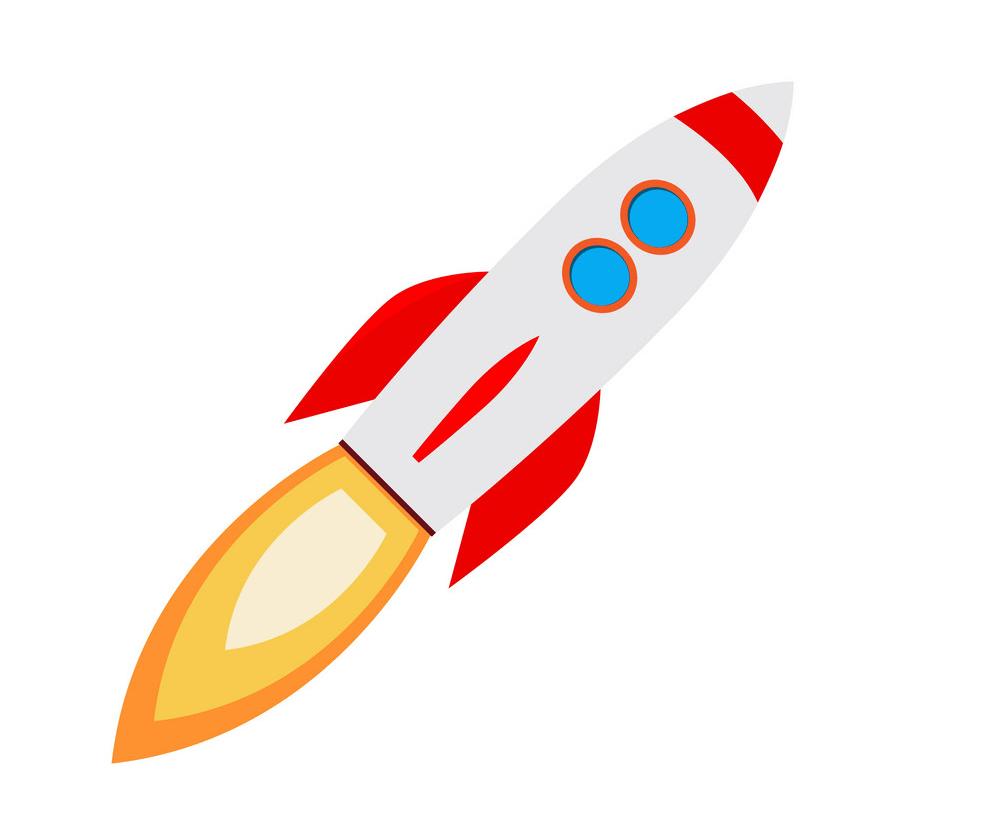 Free Rocket Ship clipart image